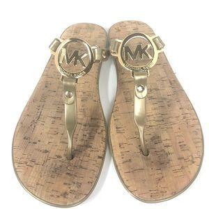 Michael Kors MK Charm Jelly Thong Flop Flop Sandal